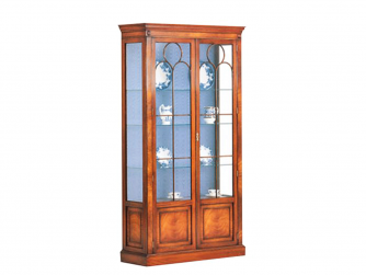 Bevan Funnell Two Door Glazed Display Cabinet