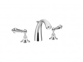 CRYSTAL LEVER 3 HOLE BASIN MIXER SJ#404.514