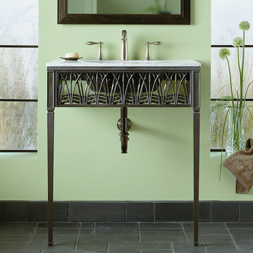 Cattails™ iron console table legs/apron/frame
