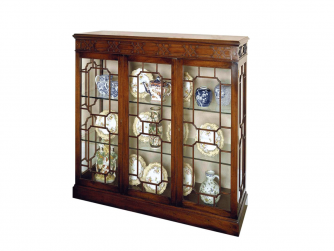 Titchmarsh & Goodwin Mahogany Display Cabinet