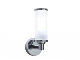 Carlyon single wall light with glass shade