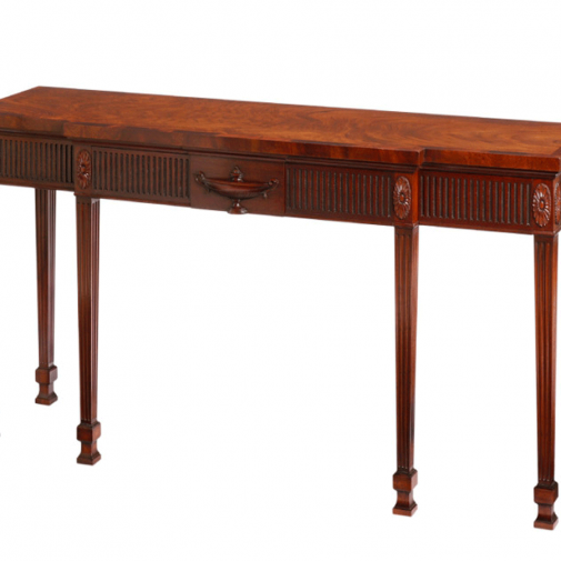 Titchmarsh & Goodwin Mahogany Breakfront Sidetable With 4Concealed Drawers