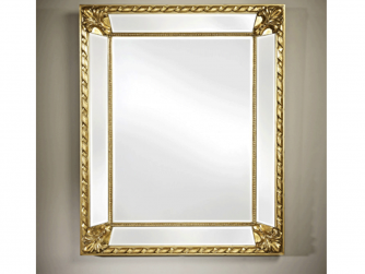Tindle Rectangular Mirror in Gold/Silver