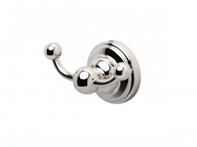 SEJA01-6922WG EVELYN Double Robe Hook White Gold