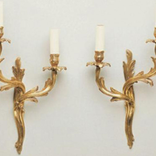 Vaughan Rococo Wall Light Left and Right