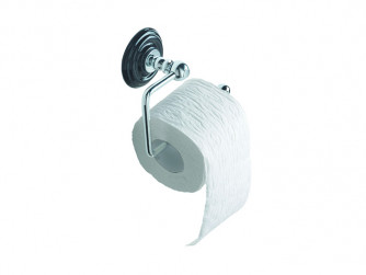 Oxford Wall mounted toilet roll holder Black