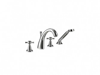 Cisne 4-hole bath filler kit