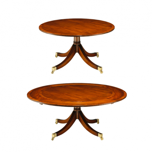 Titchmarsh & Goodwin Mahogany Extending Circular Table