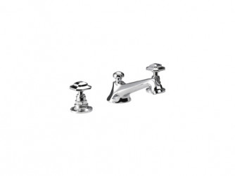 Niveau 3-hole basin mixer kit