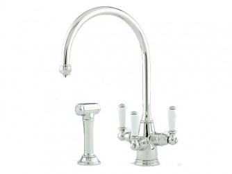 PHOENICIAN SINK MIXER WITH FILTRATION, LEVER HANDLES AND RINSE 1560