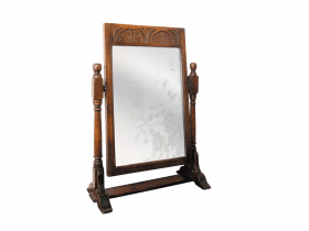 Titchmarsh & Goodwin English Oak Toilet Mirror
