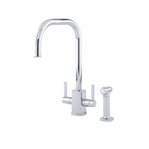 RUBIQ SINK MIXER WITH 'U' SPOUT AND RINSE 4310