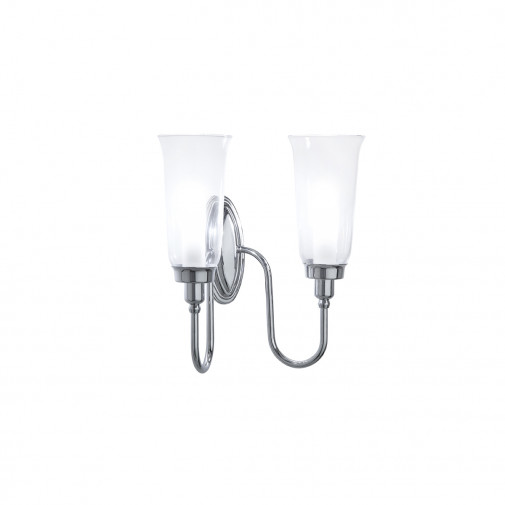Avila Double Wall Light with glass shade