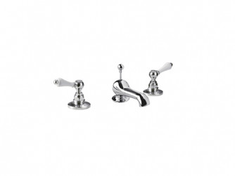 Crown Lever NEW 3 Hole Basin Mixer