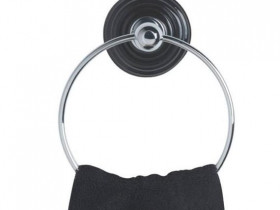 Oxford Wall mounted towel ring Black
