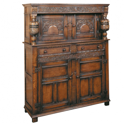 Titchmarsh & Goodwin English Oak Elizabethan Court Cupboard