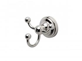 SEJA01-6923WG EVELYN Triple Robe Hook White Gold