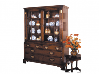 Titchmarsh & Goodwin English Oak Display Cabinet