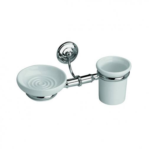 Rondine Wall Mounted Soap Dish and Tumbler