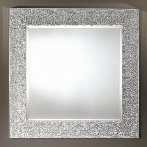 Tindle Silver Square Mirror/Pattern Border