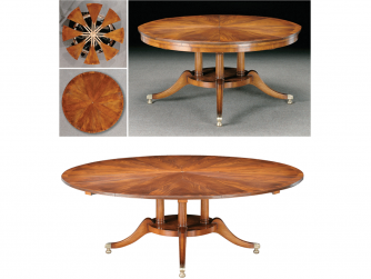 Titchmarsh & Goodwin Mahogany Radial Extending Table