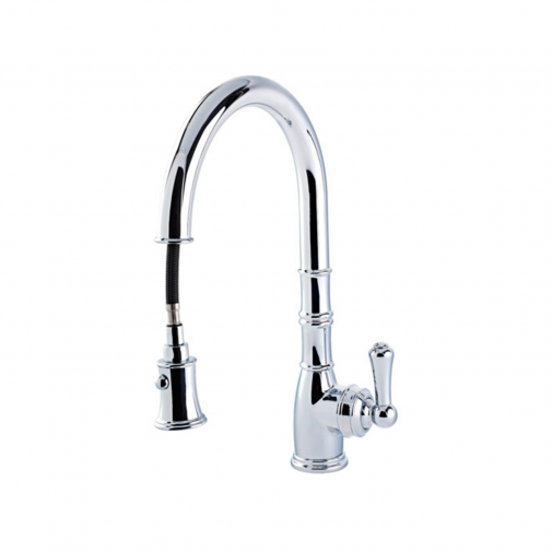 AQUITAINE SINK MIXER WITH SINGLE LEVER AND PULL DOWN RINSE 4744