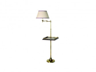 "Smartie Minor floor lamp, with 14"" square table and gothic rail"