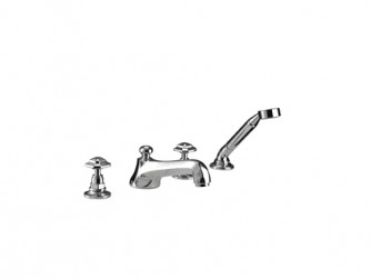 Niveau 4-hole bath filler kit with shower handset