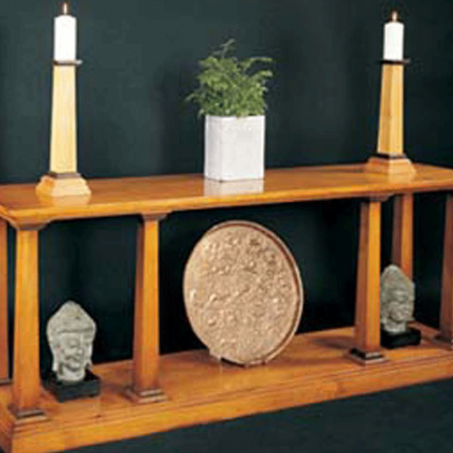 R. E. H. Kennedy Side Table with Potshelf