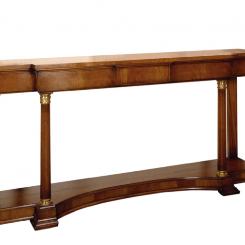 Titchmarsh & Goodwin Karelian Birch Empire Console Table