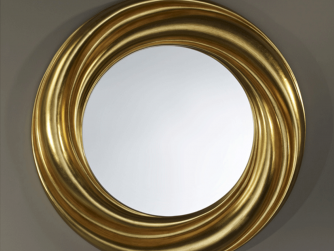Tindle Round Silver/Gold Mirror