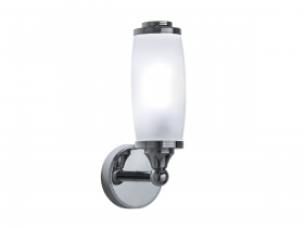 Toledo single wall light with glass shade
