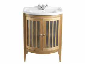 Imperial Bathrooms  Linea Drift vanity unit 2 woodfrosted