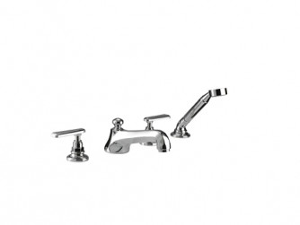 Poulie 4-hole bath filler kit handset