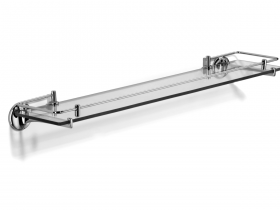 Novis glass shelf with lifting rail -N1115-LR