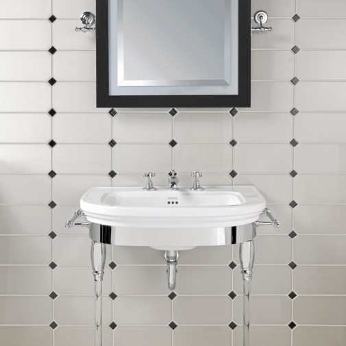 CARLYON LARGE BASIN STAND WITH GLASS LEGS
