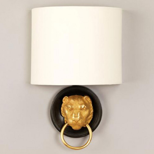 Vaughan Lion Head Wall Light
