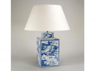Vaughan Blue & White Square Vase