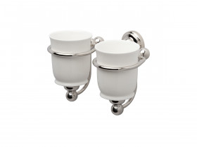 SEJA01-6926WG EVELYN Double Tumbler Holder White Gold