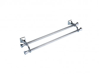 Highgate 600mm Wall-mounted Double Towel Rail