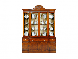 Titchmarsh & Goodwin Mahogany Breakfront Display Cabinet