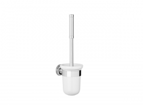 Style Moderne Wall mounted toilet brush - white